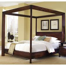 Image of: Fabulous Wood Canopy Bed Frame