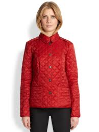 Lyst - Burberry brit Kencott Quilted Jacket in Red & Gallery Adamdwight.com