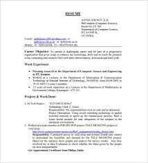 Fresher Resume For Mechanical Engineer Resume Examples Than CV Formats For  Free Download