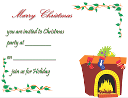 Christmas Dinner Invitation Templates Christmas Party Invitation Template Free Printable