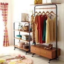 double rod freestanding closet double rod wardrobe