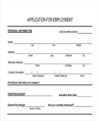 49 Job Application Form Templates Free Premium Templates