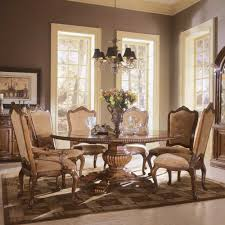 5pc dining room set with round table in classic cherry view larger
