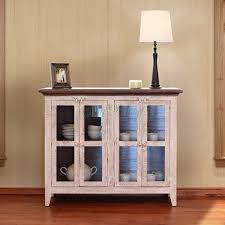 International Furniture Direct Accent Cabinets 926 Antique White