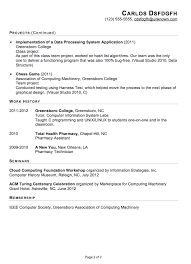 Internship Resume Templates Gorgeous Resume Template Sample Resume Format For Internship Free Career
