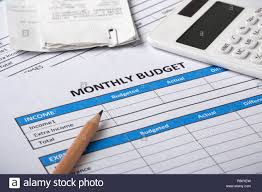 Monthly Budget Planning Monthly Budget Planning Concept With Calculator Bills And