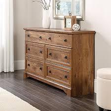 Vintage wooden furniture Style Queen Anne Palladia 6drawer Vintage Oak Dresser The Home Depot Sauder Palladia 6drawer Vintage Oak Dresser420613 The Home Depot