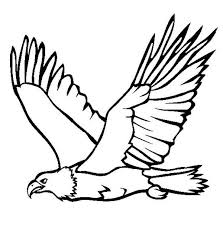 Flying Bald Eagle Coloring Pages To Print Coloringstar