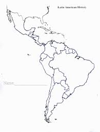 Latin America Outline Maps Central America Blank Maps 9 Outline Map Of Printable No Names