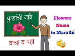 Flowers Name In Marathi Youtube