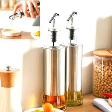oil bottle dispenser kitchen glass oil bottle stainless steel leak proof soy sauce vinegar cruet storage dispenser from cooking oil dispenser bottles india