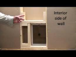 step 2 how to install a small pet door