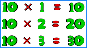 9 Times Table 10 Times Tables Multiplication Memorization E Learning Education