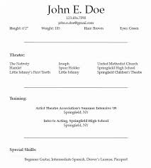 Sample Acting Resume Gorgeous Beginner Acting Sample Resume 28 Acting Resume Templates Free