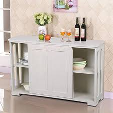 go2buy Antique White Stackable Sideboard Buffet Storage Cabinet with