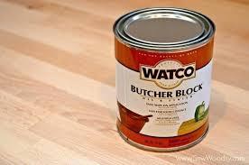 finishing butcher block countertops staining sealing with waterlox refinish