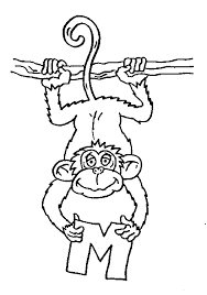 Monkey coloring pages are an easy way to let your children learn about some characteristics of human origins. Monkey Coloring Pages Printable Bestappsforkids Com