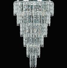 chrome drum crystal chandelier crystal chrome chandelier pendant light impex new york large 24 light crystal chandelier polished chrome rectangular black