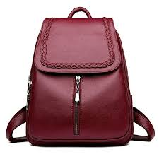 details about female backpack women leather school bag fashion designer bagpacks for girls
