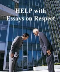 word essay disrespect