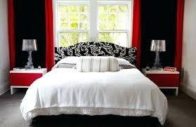 Red Black And White Bedroom Residential Red Black White Bedroom ...