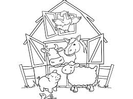 Small Picture Farm Animal Coloring Simple Farm Coloring Pages Coloring Page
