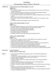 Application Programmer Resume Samples Velvet Jobs