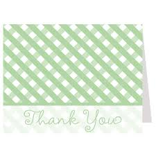 Baby-Q Green Thank You Card