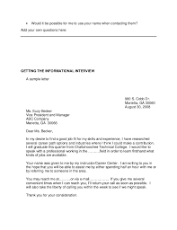 Cover Letter Requesting Informational Interview Result Thieves Cf