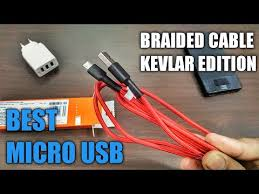 <b>Mi</b> Micro <b>USB Braided</b> Kevlar <b>Cable</b> | Best <b>USB Cable</b> Only ₹249 ...