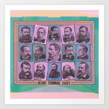 A Beard Trimming Chart Art Print