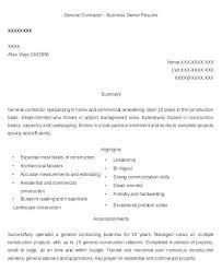 resume contractor building contractor resume general contractor resume general