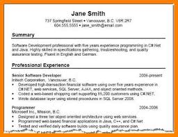 Resume Professional Summary Unique Example Customer Service Resumes Resume Professional Summary