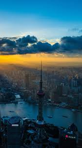 1080x1920 skyline cityscape shanghai day cloud wallpaper for iphone 6s 7 8