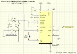 arduino load cell circuit sketch for calibration test arduino ina125 instrumental amplifier schematic arduino load cell