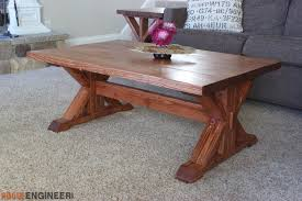 Wood plans contain no hardware materials or accessories shown on cover photo. Trestle Coffee Table Free Diy Plans Rogue Engineer
