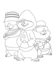 Alvin And The Chipmunks Coloring Pages Dave De Mayo Alvin And