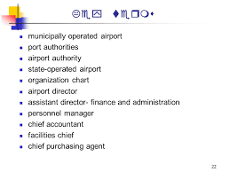 Port Authority Org Chart Airports And Airport Systems Organization And