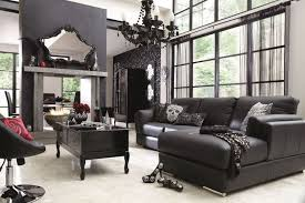 living room with black furniture. Black Living Room Paint And Sofa Founterior With Furniture