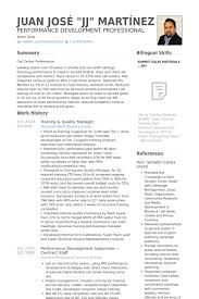 Training & Quality Manager Resume samples