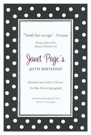 Polka Dot Invitations Black And White Polka Dot