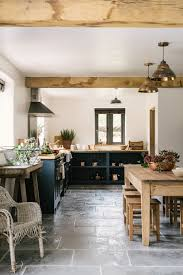 Country Kitchen Floors A Stylish Country Kitchen By Devol With Worn Grey Limestone