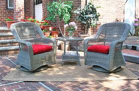 bel aire resin wicker swivel glider set round table driftwood
