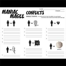 Maniac Magee Plot Chart Maniac Magee Conflict Graphic Analyzer 6 Types Of Conflict