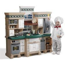 deluxe kitchen play set  kids toy combo  step