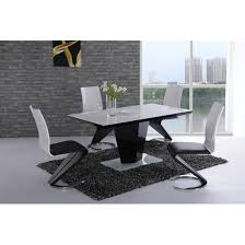 rectangular glass dining table 120cm. lerona black high gloss white glass dining table and 6 chairs rectangular 120cm l