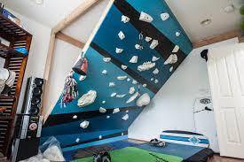 indoor climbing wall modern home