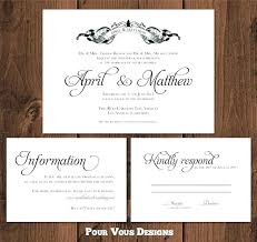 response cards template wedding invitations and response cards combined with reply card