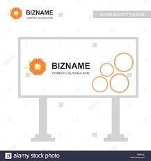 Company Bill Board Design Vector Calendar With Flower Logo. For Web ...