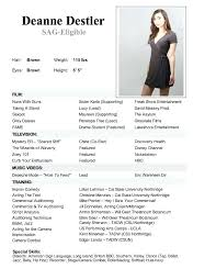 Actor Resume Template Mesmerizing Child Actor Resume Template A Acting Performing Arts